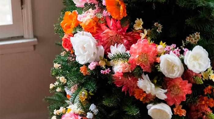 Lo ltimo en decoraci n flores en los rboles de navidad for Lo ultimo en decoracion