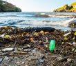 Playa con abundante restos de basura.