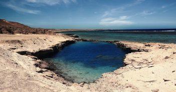 Conoce el lago turquesa de Egipto